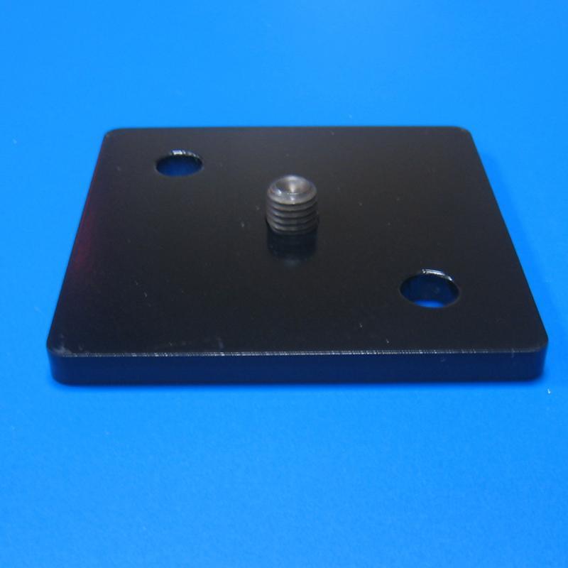 122601 鐵製方型底板 黑色