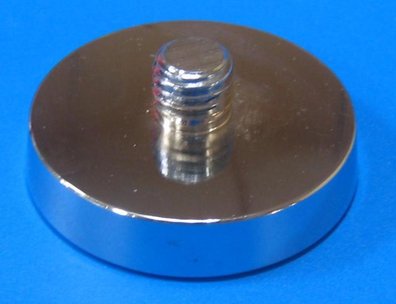 122603 鐵製圓型腳座 銀色