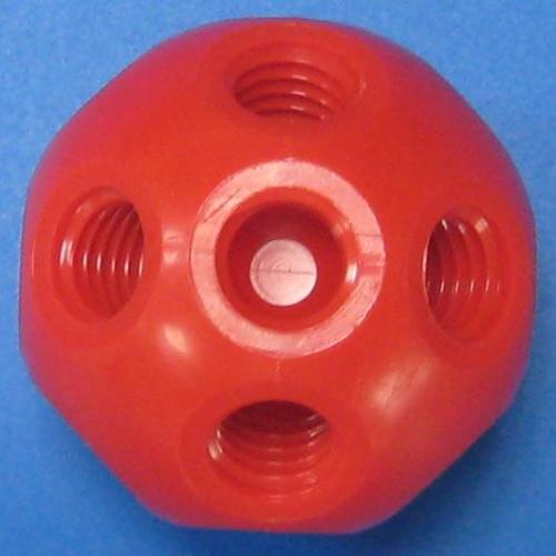 501310 塑膠標準型接頭 紅色