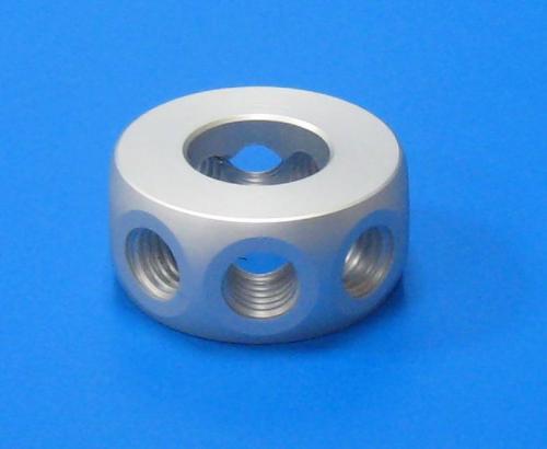 503102 8孔45度環接頭 鋁色