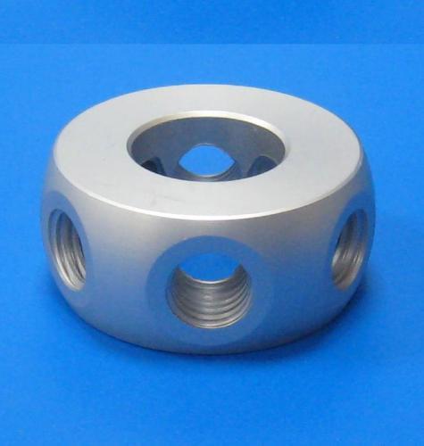 503202 6孔60度環接頭 鋁色